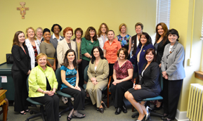 Our twenty panelists with Dr. Barbara D. Nazelrod '68.